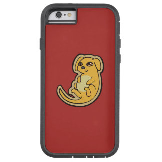 Sweet Yellow And Red Puppy Dog Drawing Design Tough Xtreme iPhone 6 Case