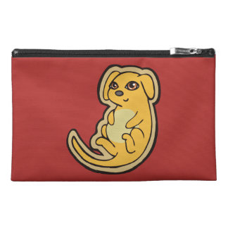 Sweet Yellow And Red Puppy Dog Drawing Design Travel Accessory Bag