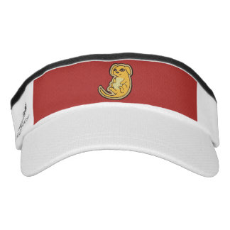 Sweet Yellow And Red Puppy Dog Drawing Design Visor