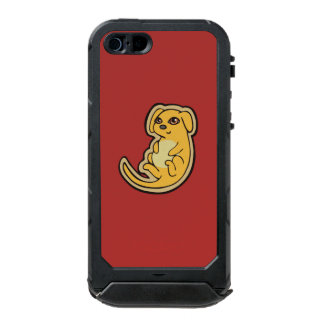 Sweet Yellow And Red Puppy Dog Drawing Design Waterproof iPhone SE/5/5s Case