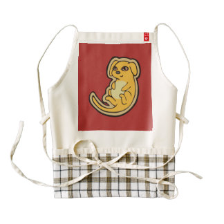 Sweet Yellow And Red Puppy Dog Drawing Design Zazzle HEART Apron