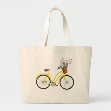 Sweet Yellow Bike Tote