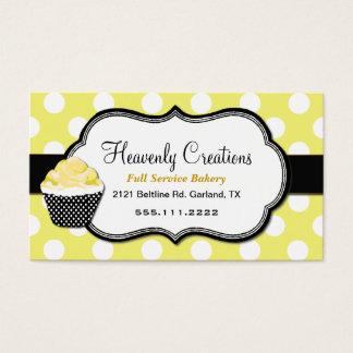 Sweet Yellow & Black Cupcake Bakery Business Card