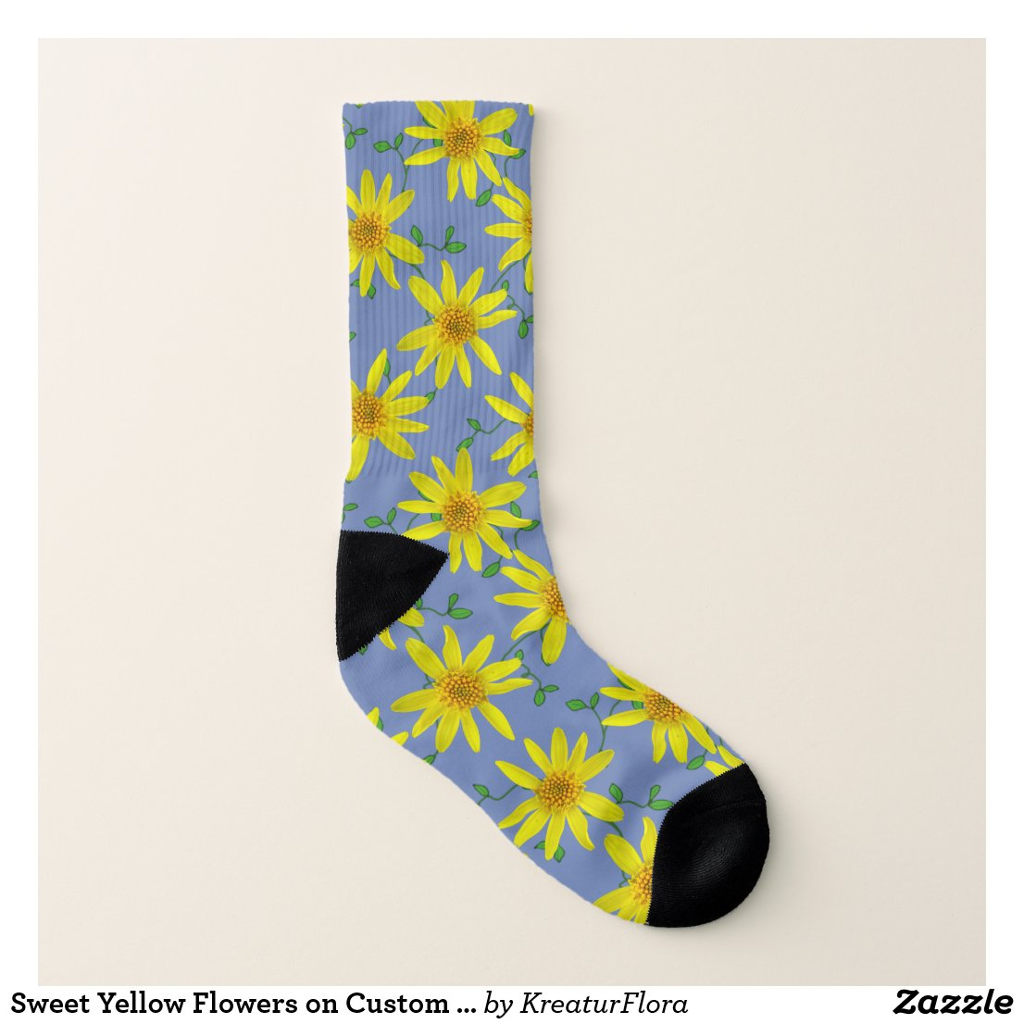 Sweet Yellow Flowers on Custom Color