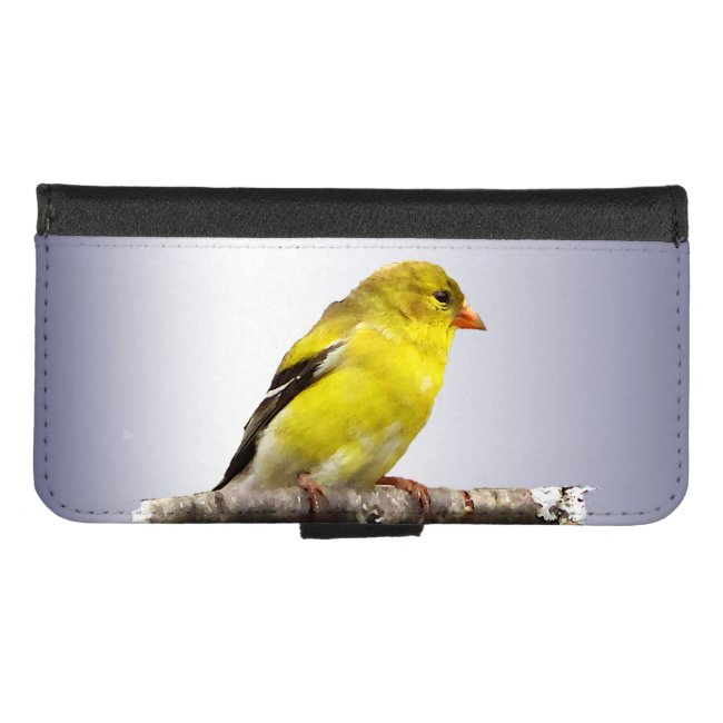 Sweet Yellow Goldfinch Bird iPhone 8/7 Wallet Case