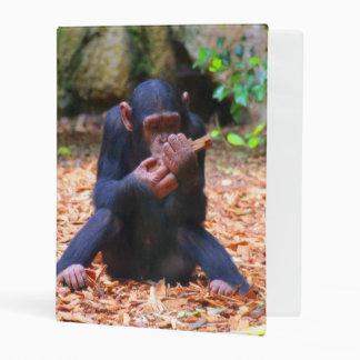 Sweet youmg Chimpanzee Mini Binder