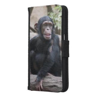 Sweet youmg Chimpanzee Samsung Galaxy S6 Wallet Case