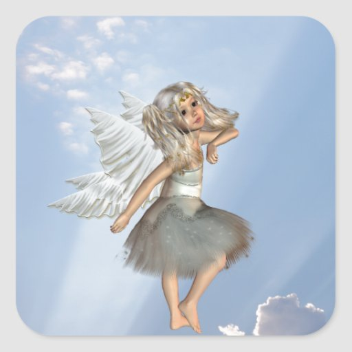 Sweet Young Angel Stickers