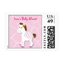 Sweet Zebra Jungle Girl Postage Stamps
