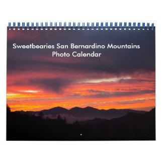 Sweetbearies San Bernardino Mountains Calendar