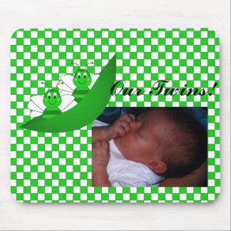 SweetBee Twin Bumble Bees Baby Picture Mousepad