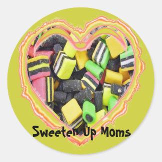 Sweeten Up Moms Classic Round Sticker