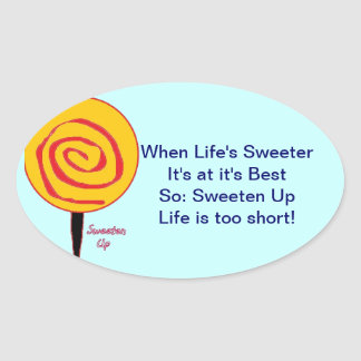 Sweeten Up Oval Sticker