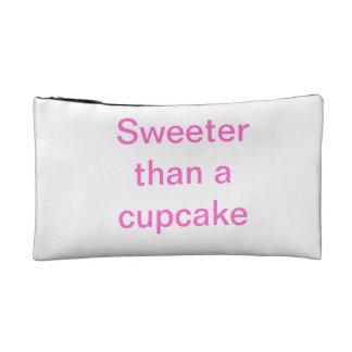 Sweeter than a cupcake cosmetics bags