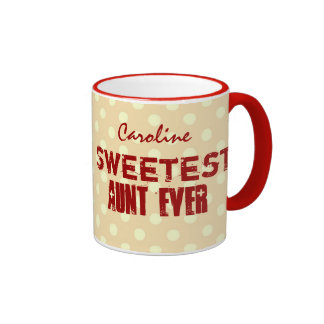 Sweetest Aunt Ever Custom Name Mug for Her