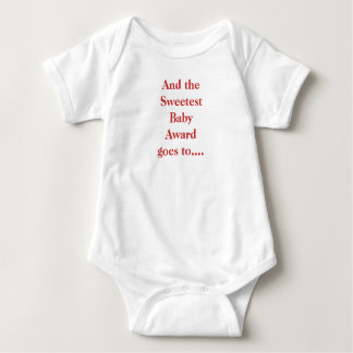 Sweetest Baby Award Baby Bodysuit