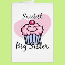 Sweetest Big Sister Card