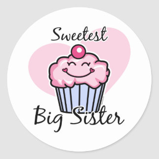 Sweetest Big Sister Classic Round Sticker