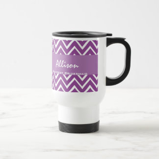 Sweetest Bridesmaid Chevron Gift A03 PURPLE Travel Mug
