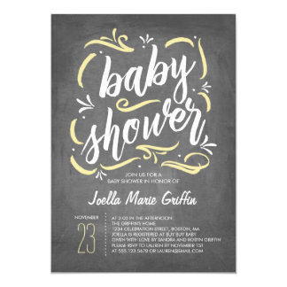 Sweetest Chalkboard Baby Shower Invitation | Yello