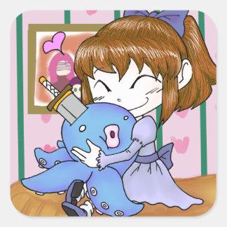 Sweetest Cuddles Square Sticker