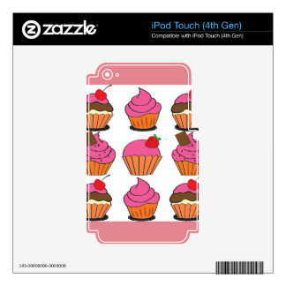 Sweetest Cupcakes iPod Touch 4G Skin