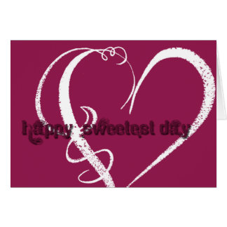 Sweetest Day Grunge Graphic Card