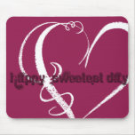 Sweetest Day Grunge Graphic Mousepads