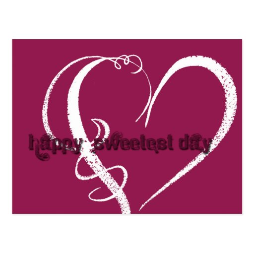 Sweetest Day Grunge Graphic Post Card