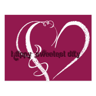Sweetest Day Grunge Graphic Postcard