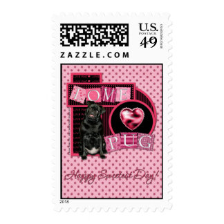 Sweetest Day - Love Pug Postage Stamps