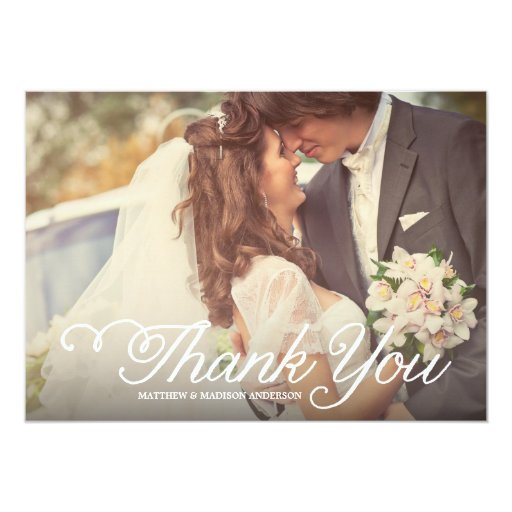Sweetest Day | Wedding Thank You Photo Card Personalized Invite