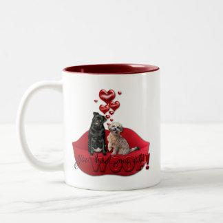 Sweetest Day - You Had Me at Woof! Two-Tone Coffee Mug