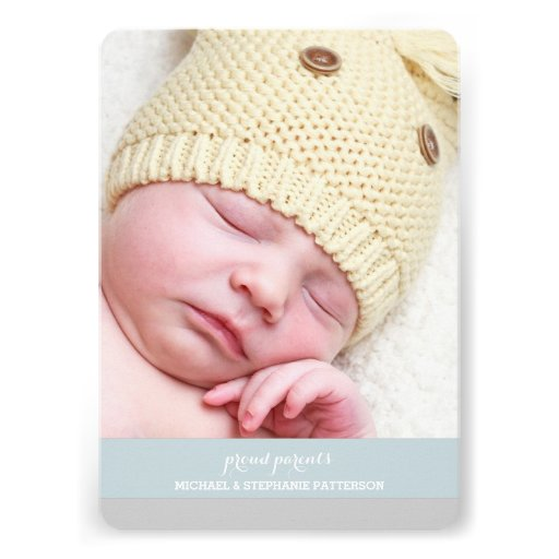 Sweetest Dream Two Photo Modern Birth Announcement (back side)