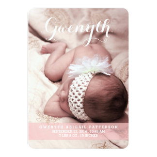 Sweetest Dream Two Photo Modern Birth Announcement