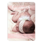 "Sweetest Dream Two Photo Modern Birth Announcement 5"" X 7"" Invitation Card"