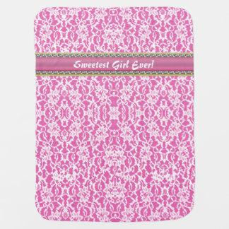 """Sweetest Girl Ever!"" Pink Custom Baby Blanket"