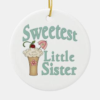Sweetest Little Sister Malt Ceramic Ornament