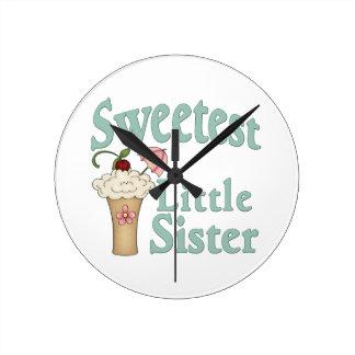 Sweetest Little Sister Malt Round Wallclocks