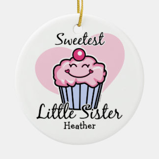 Sweetest Little Sister Personalized Ornament