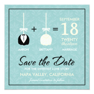 Sweetest Love Cakepop Modern Save the Date Card