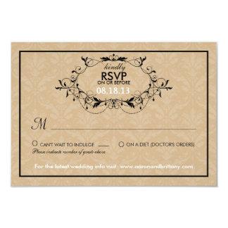 Sweetest Love Cakepop Modern Wedding RSVP Card
