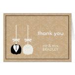 Sweetest Love Cakepop Modern Wedding Thank You Greeting Card