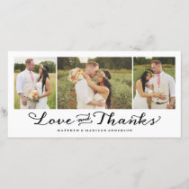 Sweetest Love | Wedding Thank You Photo Card