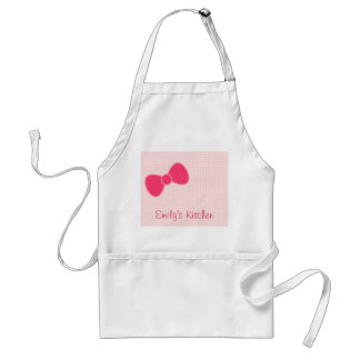Sweetest Pink Bow Adult Apron