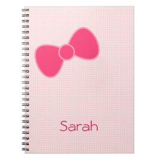 Sweetest Pink Bow Spiral Notebook