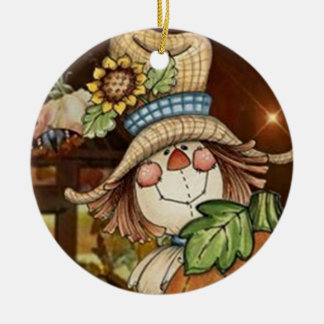SWEETEST SCARECROW CHRISTMAS ORNAMENT