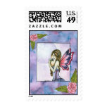 Sweetest Smelling Rose Fairy Art Print Postage