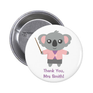 Sweetest Teacher, Cute Koala Bear, Appreciation Button