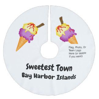 """Sweetest Town"" - Bay Harbor Islands, Florida Brushed Polyester Tree Skirt"